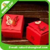 Коробка новой конструкции красная трудная бумажная используемая в венчании (SLF-PB031)