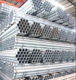 Galvanizado en caliente del tubo de acero redondo/tubo de acero para construcción