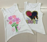 Beautiful Fashion Girl Knit Vest em criança Girl T-Shirt com Camisole (SV-029)