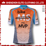 Manchon court polyester personnalisé de cyclisme de sublimation numérique d'usure (ELTCJJ-206)