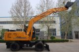 12 toneladas que exportan el excavador de la rueda excavador rodado exportación de 12 toneladas