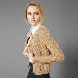 Neuer Entwurfs-Form-Dame-Kaschmir-Wolljacke-Strickjacke-Großverkauf kleines MOQ