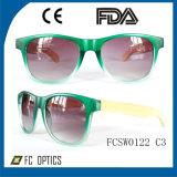 Бамбук солнечные очки с пластмассовой рамы