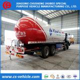 Dongfeng Sinotruk 8X4 35.5m3 15mt LPG 대량 유조 트럭