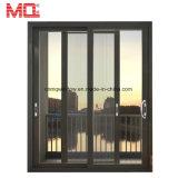 Porta de vidro de alumínio comercial para a porta deslizante dobro da venda