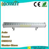 18 uds. de 3W RGB 3in1 IP65 LED bañador de pared de la luz de la etapa