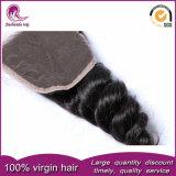 緩い波状のインドの毛のWeft加工されていないバージンの人間の毛髪の織り方