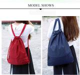 Otto colori impermeabilizzano il sacchetto di viaggio dello zaino del Drawstring di nylon