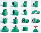 Instalaciones de tuberías plásticas del conector PPR de la agua fría y caliente