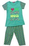 , 아이 착용 입어, 아이들에 있는 여름 아이들 옷 SGS-103 동안 인쇄된 아이 소녀 한 벌