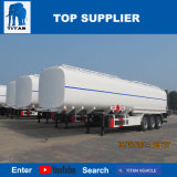 Het Staal van de Aanhangwagens van de Tanker van het Vervoer van de Ruwe olie van de tri-As van de titaan 42000 Van de Stookolie Liter van de Aanhangwagen van de Tanker