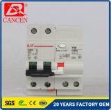 mini RCCB corta-circuito moldeado MCCB de la caja del carril MCB del estruendo del corta-circuito C65 de 1-6A 10-32A 40-63A