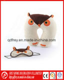 Ammortizzatore sveglio del collo del giocattolo del gufo della peluche con il gufo Eyemask