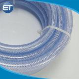 PVC de color reforzado con fibra trenzada de tubo flexible de Net