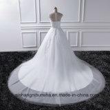 Kleid-Spitze-Weinlese der Prinzessin-Hochzeit elegante Fußboden-Länge