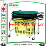 Gloden Metal Wire Shopping Hand Basket pour la boutique de produits cosmétiques de luxe