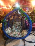 Im Freiengarten-Patio-Möbel-Plastikschwingen-Stuhl mit Tassles