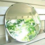 Impermeable doble capa de cristal sin marco Espejo con borde biselado, espejo biselado para baños