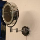 非常に防水クロム洗面所ミラーの円形の壁ランプ