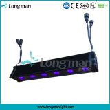 6X12W Rgbawuv無線電池式LEDのライトバー