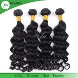 100%の加工されていない毛のエキゾチックな波のブラジルの人間の毛髪の織り方