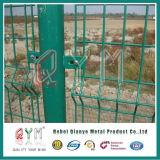 El PVC cubrió la cerca de alambre del gemelo de la cerca del metal soldado 868