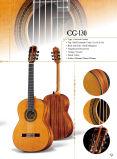 Музыкальные инструменты строки из красного дерева твердой верхней части классическая гитара