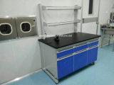Bois et de laboratoire en acier avec trame C et d'étagère de réactif (JH-WF073)