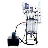 La pression de la distillation sous vide chemisé réacteur en verre 100L