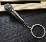 Heet verkoop de Sleutelring van de Microfoon van het Metaal voor de Gift van de Bevordering