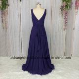 Гость венчания одевает линию дешевые шифоновые платья Bridesmaid