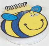 Bloco de notas do miúdo bonito da forma da abelha dos desenhos animados (NB-009)