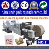 Parte inferior cuadrada o bolsa de papel inferior de V que hace la máquina
