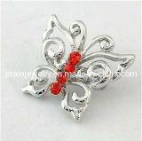 La moda Gema Ruby abrió el diseño de mariposa de plata joyas Broches Broches Broches Broches joyas de moda Accesorios de moda la moda Broche de aleación (PBr-024)