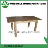 Cone de madeira de pinho de camada dupla a perna da mesa de jantar