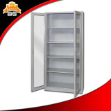 4 Adjustable Shelves를 가진 Glass Door Metal Filing 찬장을 미끄러지기
