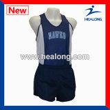 Impresión de encargo de la sublimación de la ropa de deportes superior de la venta de Healong que ejecuta Jersey