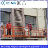Gondole en acier de berceau de nettoyage de guichet de sûreté d'élévateur de construction