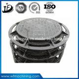 En124 Circule/coperchio di botola rotondo del pezzo fuso di sabbia/duttile del ghisa (C250/D400/E600/F900)