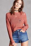 Suéter atractivo de la blusa de los géneros de punto del diseño de la depresión de las señoras del resorte