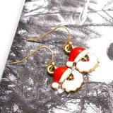 Красные серьги падения Santa Claus рождества шлема эмали для женщин