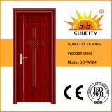 Sala de estar Entrada principal Porta de madeira, porta de madeira de vidro