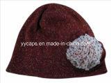 꽃 (YYCM-120355)를 가진 뜨개질을 한 모자