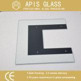 A impressão de fundo branco de 6 mm de vidro/cerâmica pintada frita de vidro colorido com orifícios
