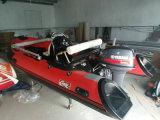 14FT Rib420c Recsue Boat com Ce 4.3m Barco inflável Hul Rigidl de fibra de vidro inflável