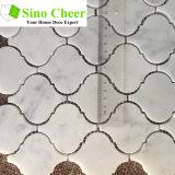 La mosaïque de mosaïque en marbre blanc Arabesque Carrara blanc de haute qualité pour le sol de la salle de bain