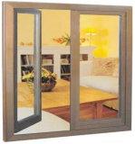 二重ガラスをはめられた高品質の熱壊れ目の水密か防音アルミニウム開き窓のガラス窓(ACW-066)