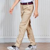 도매 전통적인 디자인 고전적인 교복 편평한 Kaki 바지