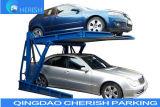 자동차 또는 차 주차 호이스트를 기우는 두 배 실린더 유압 2 포스트