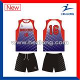 Healongはデザインスポーツ・ウェアの昇華バレーボールのユニフォームをカスタマイズした